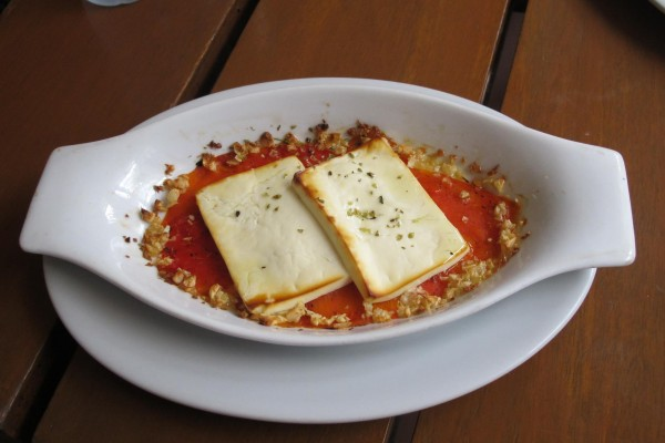 Roasted Red Pepper with Feta Cheese