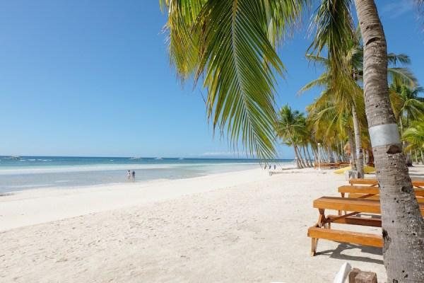 Beach Front of Bohol Beach Club in Panglao Island