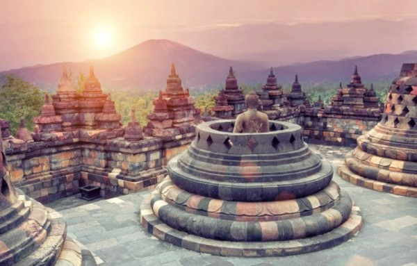 Borobudur Beautiful Places in Asia
