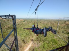Getting Ready for a Zipline ride
