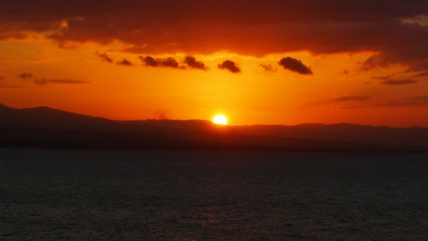 Glorious sunset over Tanon Strait