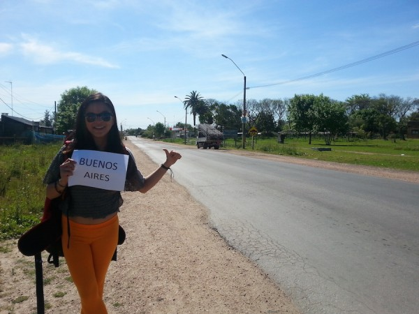 Hitchhiking to Buenos Aires, Argentina from Montevideo, Uruguay