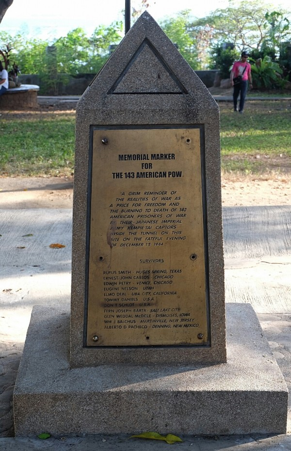 Memorial Marker for the 143 American Prisoners of War at Plaza Cuartel