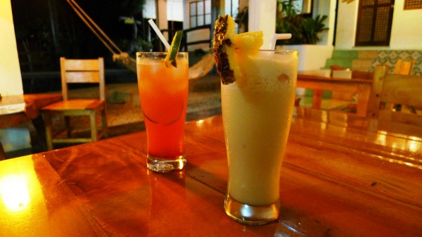 Pina Colada and Tequila Sunrise Cocktails