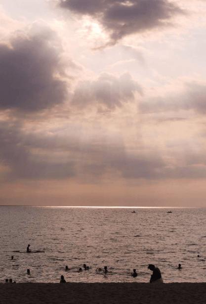 Sunset at Crystal Beach Resort