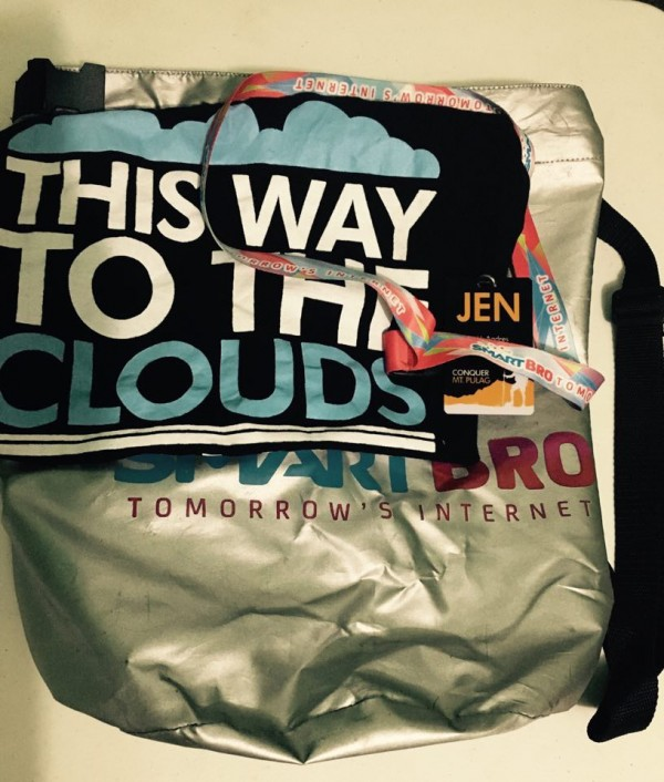 A shirt, bag tag and lanyard which you can put in a handy waterproof bag.