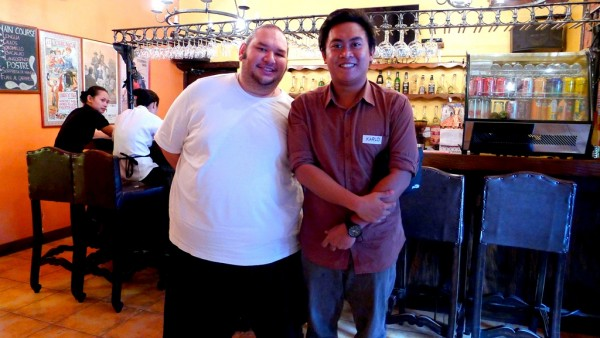 By the tapas bar with Chef Ipar