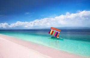 Pink Sand Beach of Sta Cruz Island