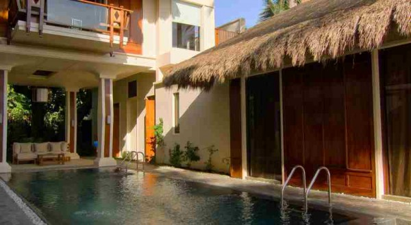 Pool Area of Nezima Beach House Boracay