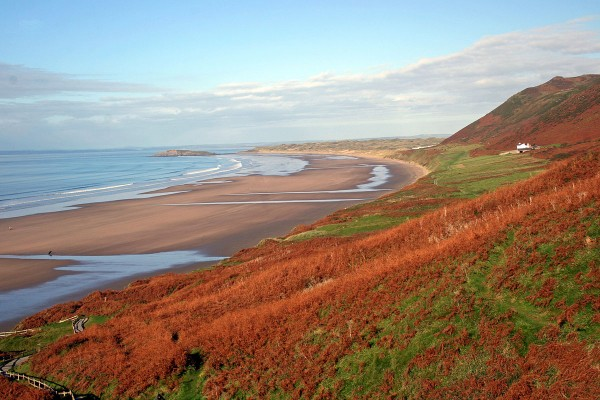 Rhossili Bay in Autumn