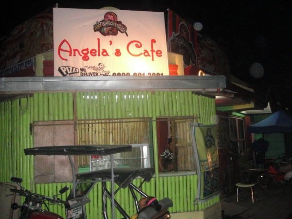 Angela's Cafe by night