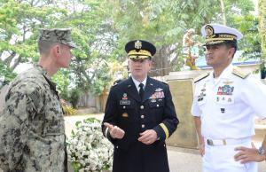 Capt. James Meyer (Balikatan), BGen. Steve Beach, Vice Admiral Lopez