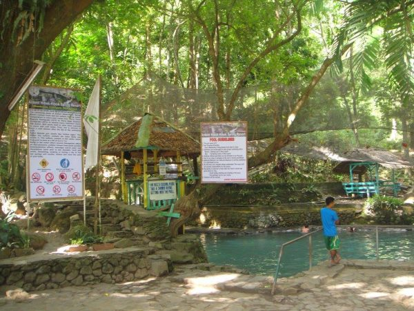 Clear natural springs with friendly guidelines for visitors