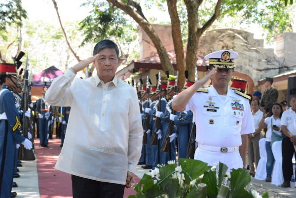 Department of National Defence Usec Ernesto Carolina during the wreath laying ceremony.