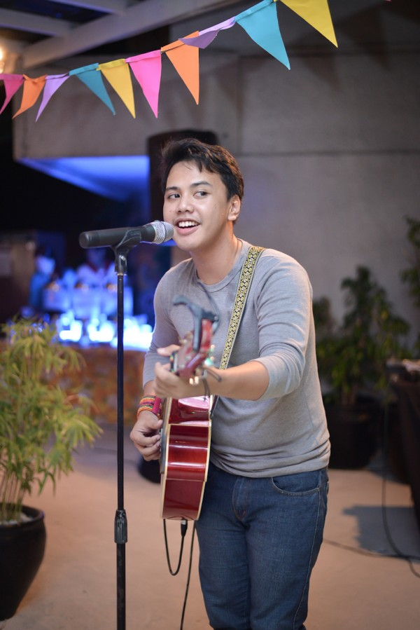 From Human Resources Department, Mr. Lawrence Cusipag serenaded Hotel Jen Manila guests