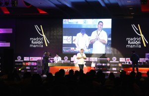 Michelin Star Chef Dani Garcia of Malaga, Spain during his presentation at the Madrid Fusion Manila 2016 Gastronomy Congress held last 7-9 April 2016 at the SMX Convention in Pasay City.