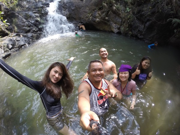 Swimming at Bayombong Waterfalls