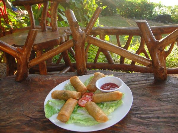 Vegie Spring Rolls by sunset
