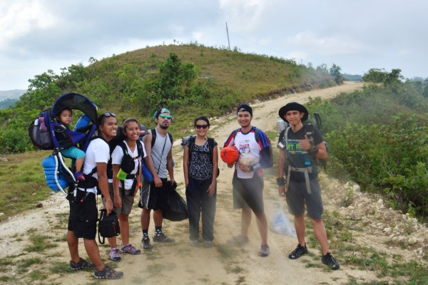 The group (Asha, Raphael, Pam, George, Paula, Charles, Nigs ?? and Jane behind the camera) during the unforgettable Mt. Hambubuyog climb