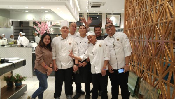 Chef Anton Abad and his team