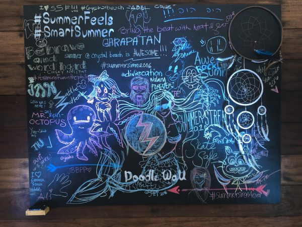 You can also have a go at their doodle wall