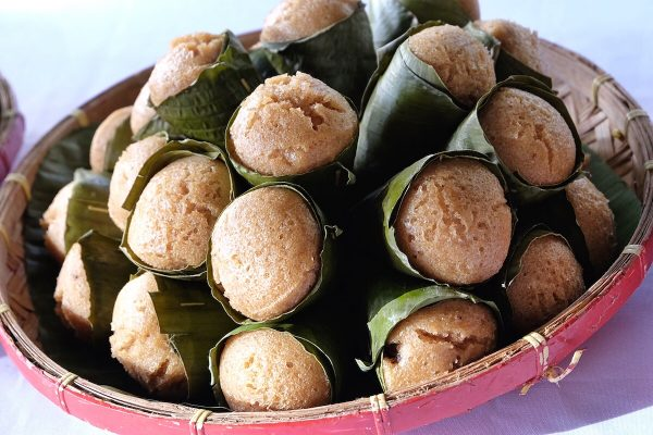 Puto in Banana Leaves