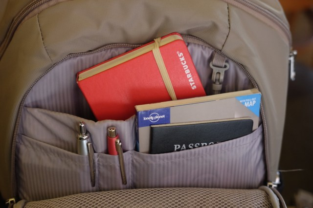 Usefull and Safe compartments for your travel documents and even wallet