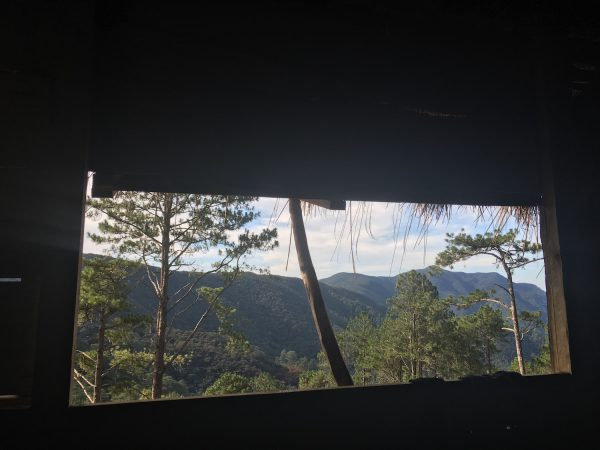 A view from our homestay hut in Mt. Bakian