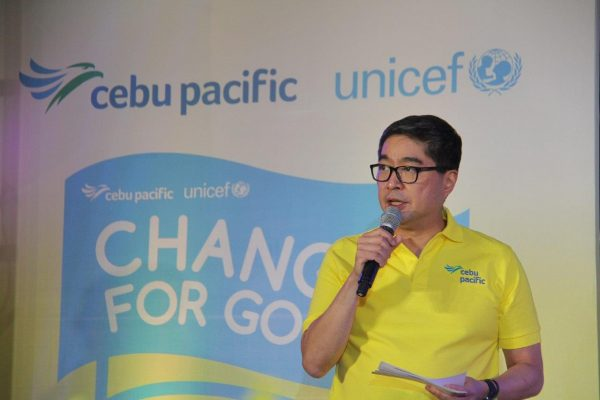 Aside from First 1,000 Days, Cebu Pacific is also working with UNICEF for disaster response and relief support, according to Lance Gokongwei, the airline's president and CEO.