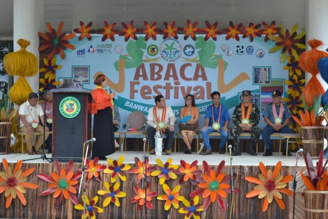 Governor Araceli B. Wong delivering a speech at the opening ceremony