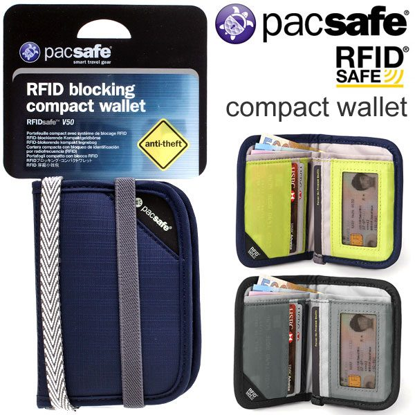 Pacsafe RFIDsafe V50 compact wallet