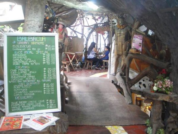 A glimpse of Balbacua's food offering amid the inviting pathway charmed by Andres Bonifacio