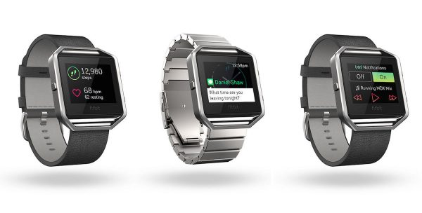 Fitbit Blaze leather and metal straps