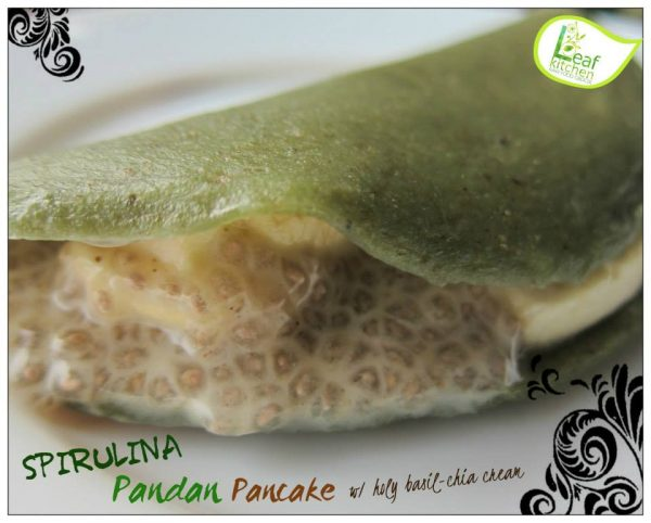 Leaf Kitchen's Spirulina Pandan Pancake, courtesy of Leaf Kitchen fb page
