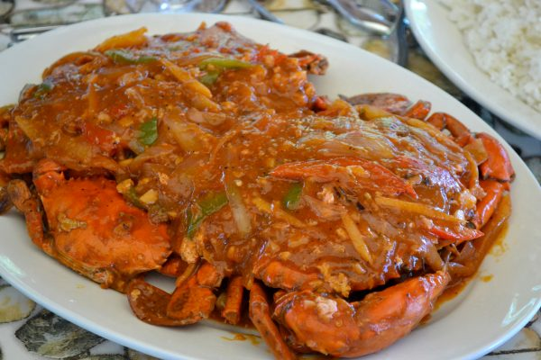 food staples in Catanduanes: Huge crabs in rich chili sauce… Mmmmm…