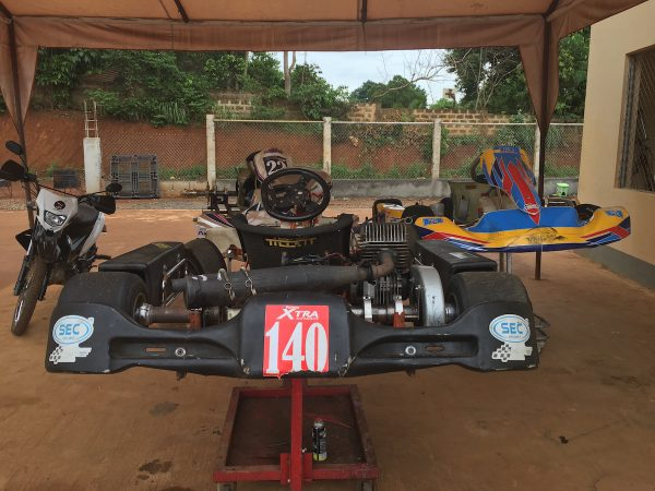 Here are some custom built go karts parked for the next race!