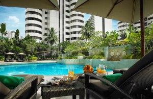 Poolside at Shangri-La Hotel, Kuala Lumpur