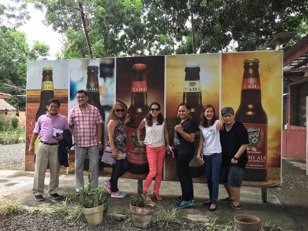 photo with the Palaweno Brewery owners
