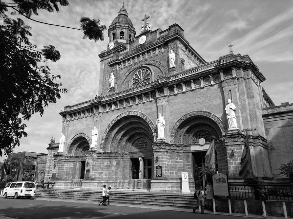 Manila Cathedral in Monochrome