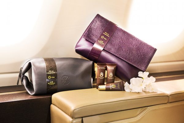 First Class amenity kits by Etihad