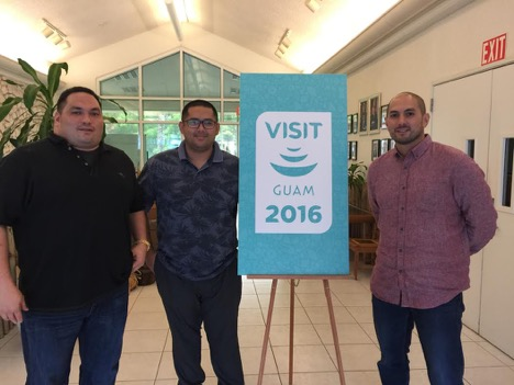 Tropical Productions, Inc. (TPI) is the new Guam Visitors Bureau (GVB) GVB Philippine Market Representative. Photo (from left to right): TPI COO – John Paul Calvo, GVB Marketing Manager – Mark Manglona, TPI CEO – EJ Calvo.