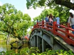 Red Bridge at Dazaifu Tenmagu Shrine