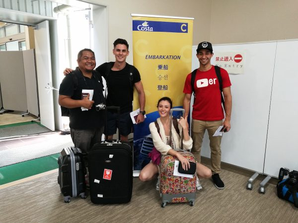 Team Pilipinas during Costa Victoria Embarkation