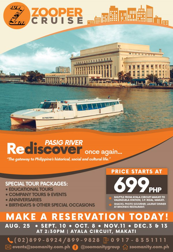 Zooper Cruise - Pasig River Cruise