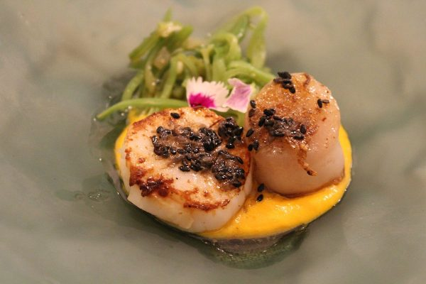 a perfect dish of scallops