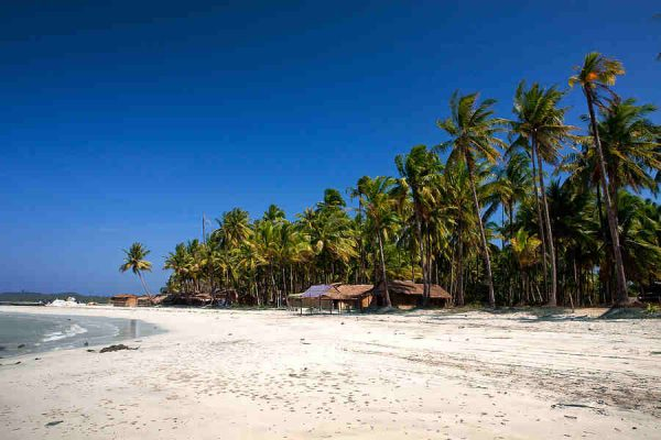 Beautiful west coast beach of Ngwe Saung village