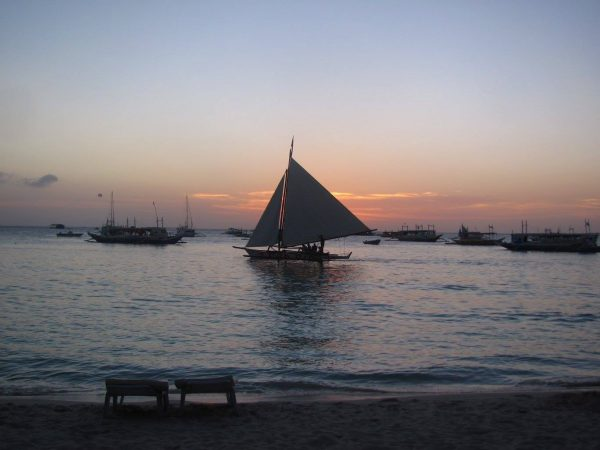Sunset Paraw Sail