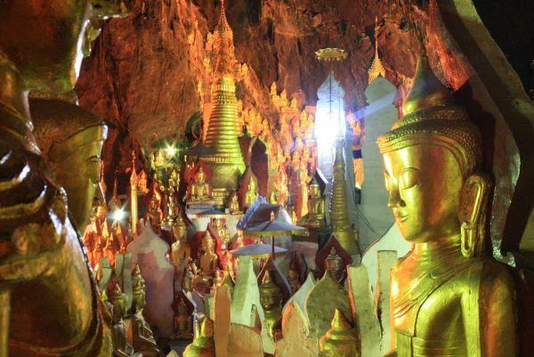 Inside the Pindaya Caves