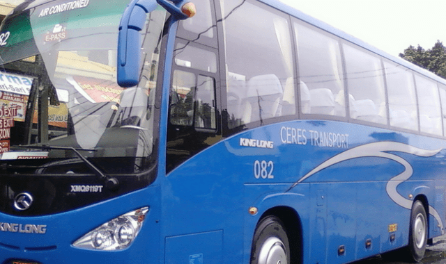 The blue bus of Ceres direct from Cubao Bus Terminal to Caticlan