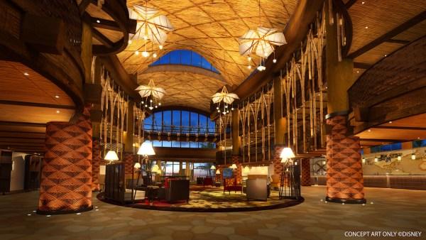 Hotel Lobby of Disney Explorers Lodge